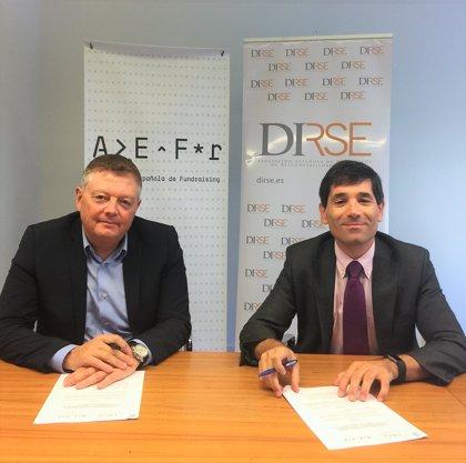 DIRSE y AEFr firman un convenio de colaboración para mejorar la relación entre empresas y tercer sector