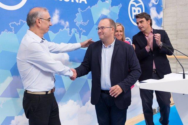 Argibay (izquierda) con Tellado (centro) y Diego Calvo (derecha)