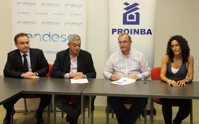 Endesa y Proinba firman un convenio de colaboración
