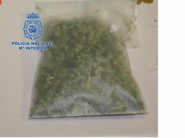Bolsa con marihuana