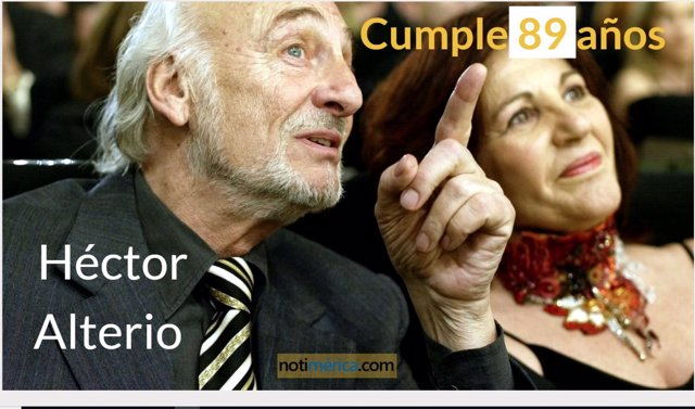 Héctor Alterio cumple 89 años