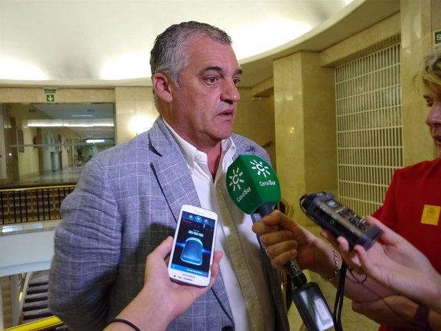 El consejero de Empleo, Javier Carnero, tras la Conferencia Sectorial
