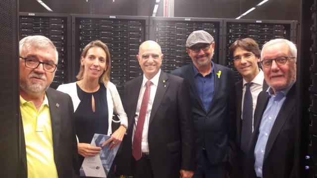 La consellera A.Chacón visita el Barcelona Supercomputing Center