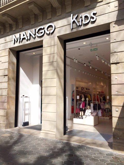 Botiga de Mango Kids al passeig de Gràcia de Barcelona