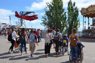 L'Avió del parc d'atraccions Tibidabo compleix 90 anys (Europa Press - Archivo)
