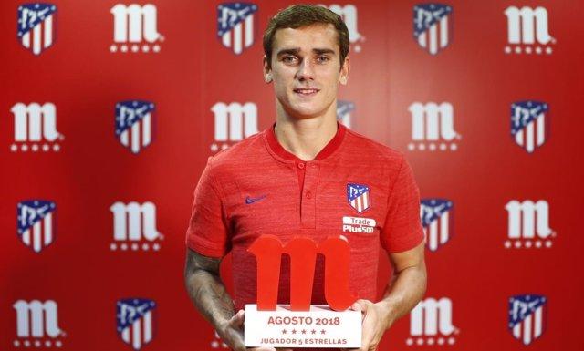 Antoine Griezmann, mejor jugador del Atlético en agosto