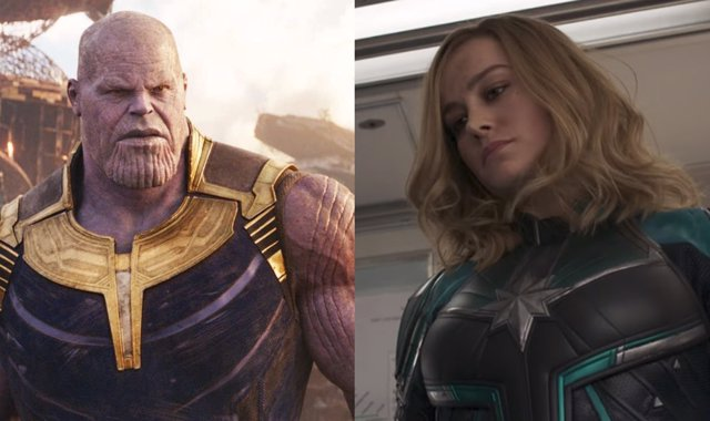 Thanos y Capitana Marvel