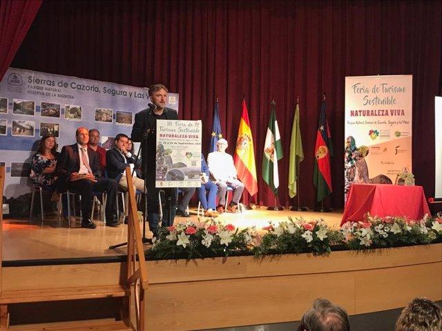 El consejero José Fiscal en la Feria de Turismo Sostenible