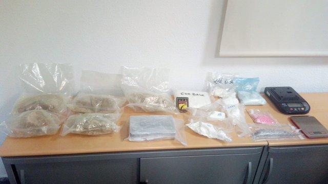 Intervención de droga de la Policía Nacional en València