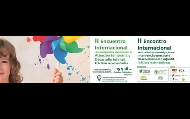 Más de 450 personas de Europa y América asistirán en Mérida al II Encuentro Internacional de Atención Temprana