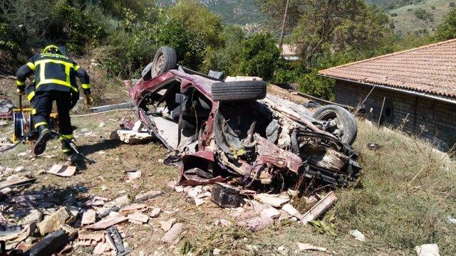 Accidente de tráfico en la A-373