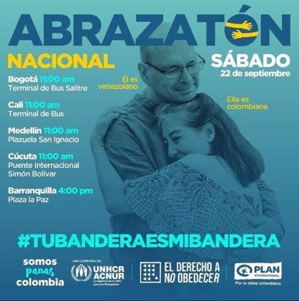Venezolanos y colombianos celebrarán este sábado un 'abrazatón nacional'