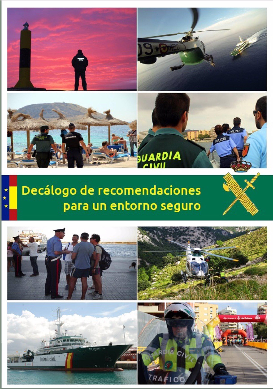 La Guardia Civil de Baleares publica un Decálogo de recomendaciones para un entorno seguro