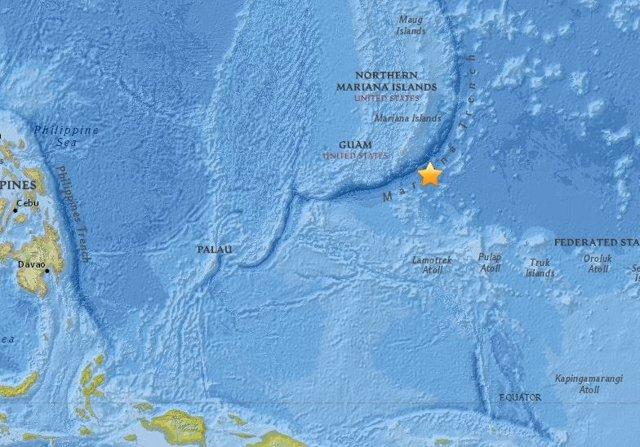 Terremoto frente a las costas de Guam (EEUU)