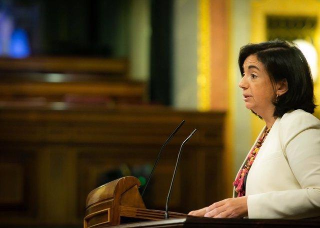 La diputada del PP Sandra Moneo en el Congreso