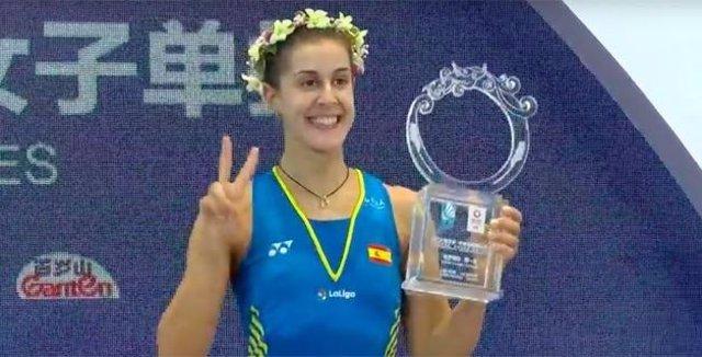 Carolina Marín, campeona del Abierto de China