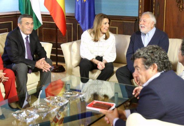 Susana Díaz, con la Federación de Organizaciones Andaluzas de Mayores