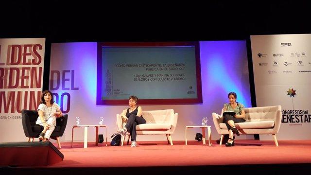 Lina Gálvez en un debate organizado por la SER