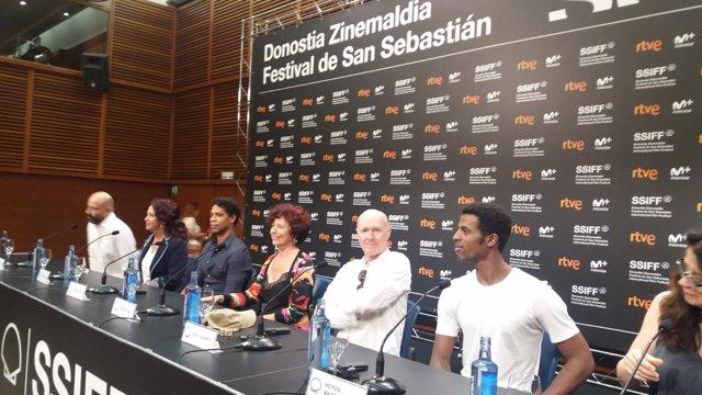 Icíar Bollaín en el Festival de cine de San Sebastián