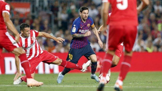 Leo Messi, en un partido del Barça