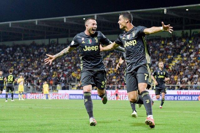 Cristiano Ronaldo celebra un gol con la Juventus.