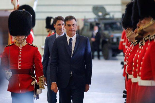 Pedro Sánchez y Trudeau en Canadá