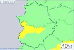Alertas Extremadura 24 de septiembre