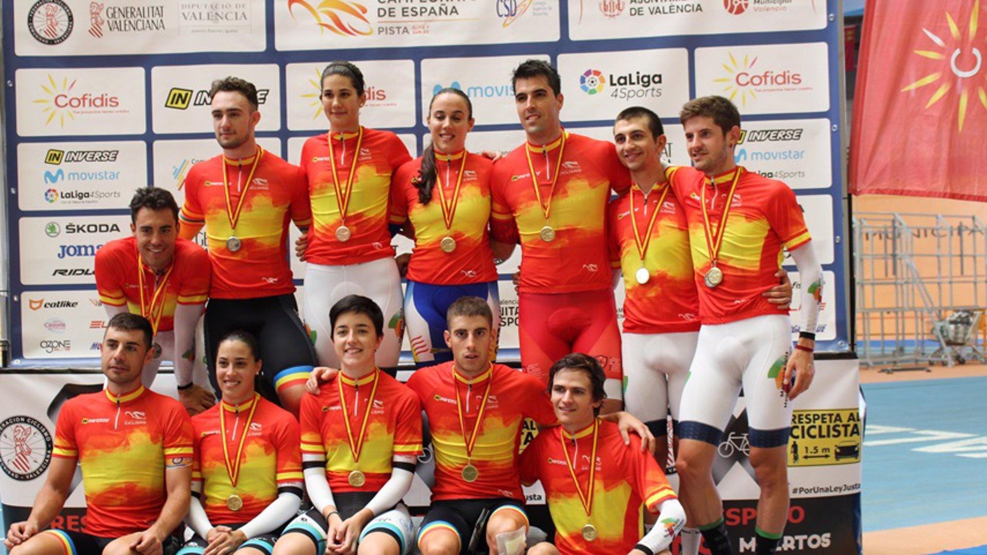 La selección balear revalida su título en la persecución por equipos