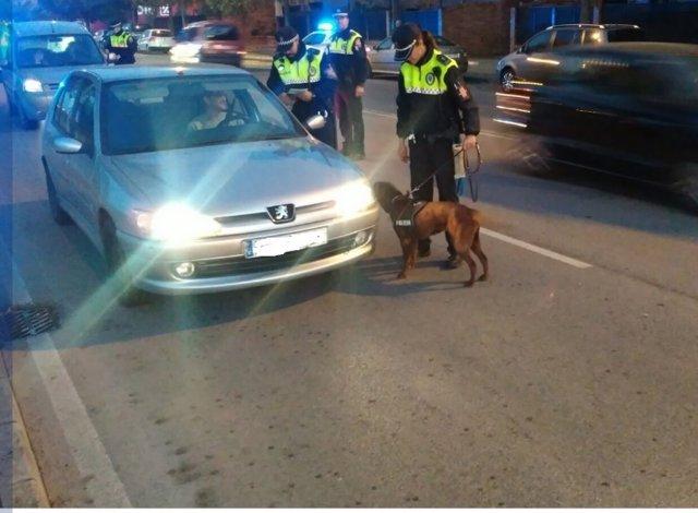 Control policial en Badajoz