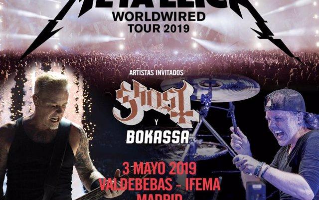 Metallica anuncia grandes conciertos en Madrid y Barcelona en mayo de 2019