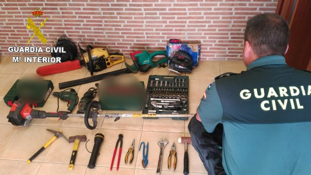 Material recuperado en robos de Minas de Riotinto