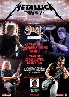 Metallica anuncia grans concerts a Madrid i Barcelona al maig de 2019 (LIVE NATION)