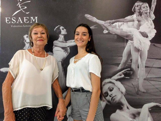 Valentina letova e irene estévez primera bailarina malagueña Bolshoi Moscú rusia