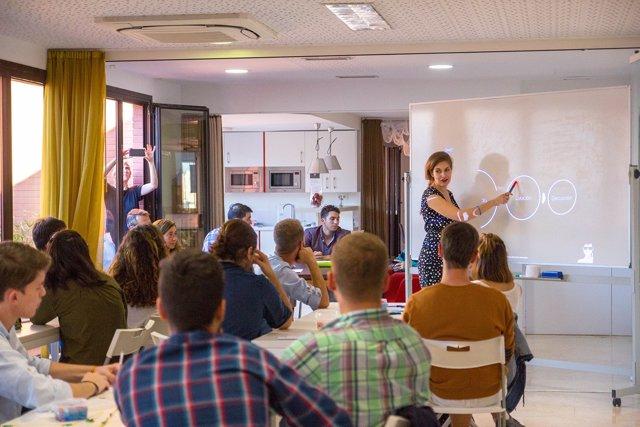 Algunos de los alumnos del taller de emprendimiento WANTED!