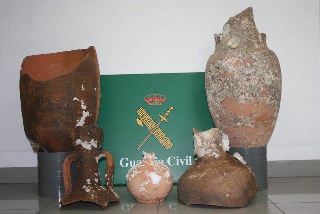 Piezas recuperadas por la Guardia Civil