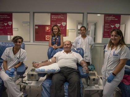 El mayor donante de sangre de La Rioja realiza su última donación tras haber salvado más de 400 vidas