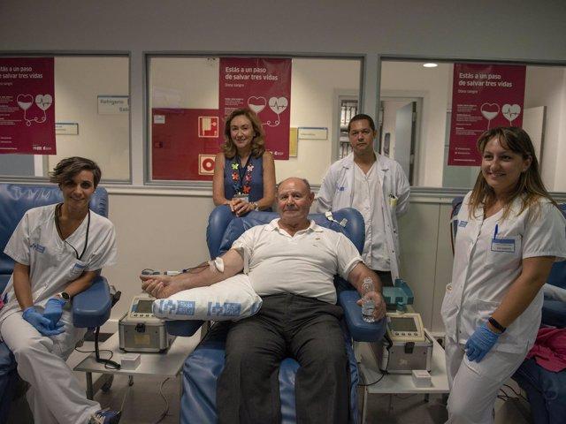 El mayor donante de sangre de La Rioja Jesús Fernánde-Velilla