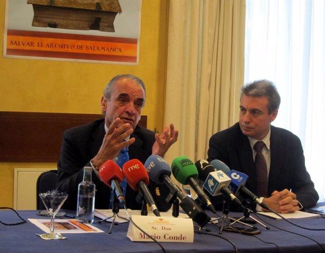 Mario Conde (I) Y Policarpo Sánches (D)