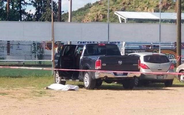 Escena del crimen en Parral, Chihuahua