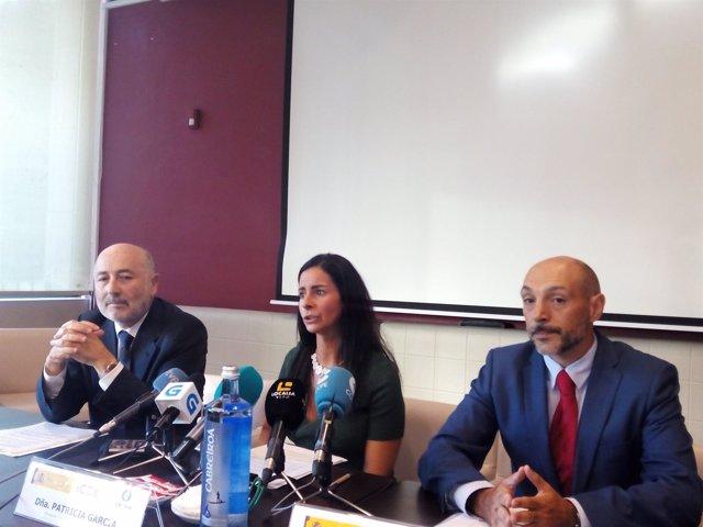 Javier Losada, Patricia García y Sergio Prieto