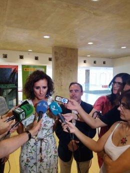 La consejera de Economía de Extremadura, Olga García