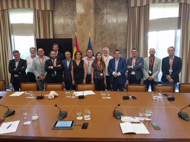 Neus Truyol, presidenta de Emaya en reunión con la ministra de Transición