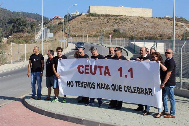 Trabajadores del Centro Penitenciario de Fuerte Mendizábal de Ceuta