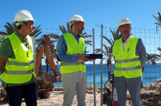 Visita a las obras del paseo marítimo del puerto de la Ametlla de Mar