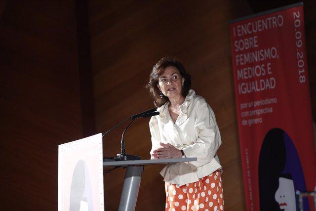 La vicepresidenta del Gobierno, Carmen Calvo, inaugura el I Encuentro Feminismo,