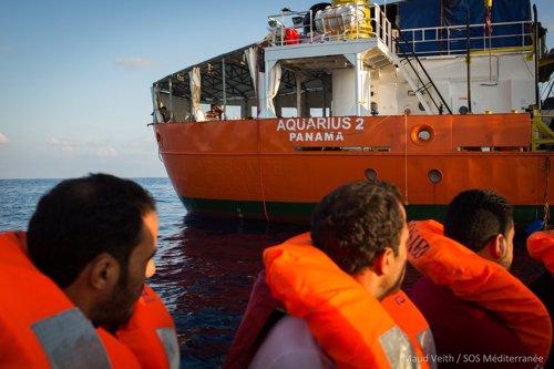 El Aquarius se dirige a Marsella y pide desembarcar 58 migrantes