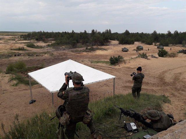 Militares españoles en Letonia