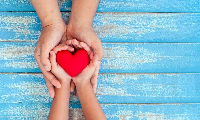 Corazón, amor, familia, manos, madre e hijo