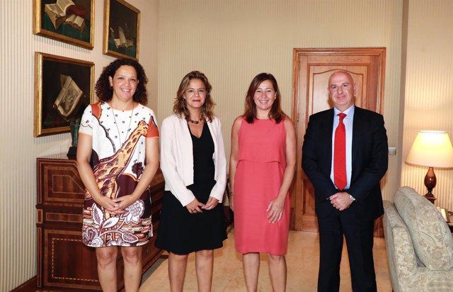 Encuentro entre Armengol y Celia Torrebadella