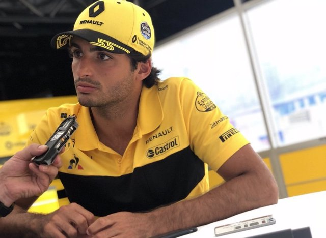Carlos Sainz (Renault), en el circuito de Spa-Francorchamps